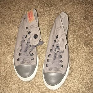 Gray Levi's high top sneakers